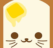 Kawaii Toast Face by MicahTheStrange