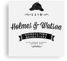 Holmes and Watson Consulting Canvas Print