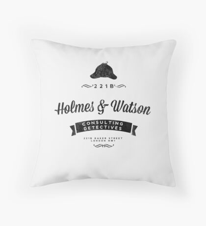 Holmes and Watson Consulting Throw Pillow