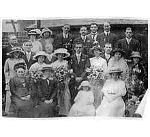 Wedding Group 1914 Sheffield,Yorkshire. Poster