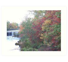 Fall Time River scene Art Print