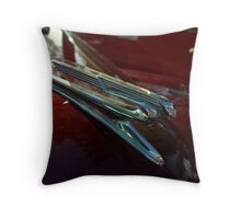 1941 Chevrolet Convertible Hood Ornament Throw Pillow