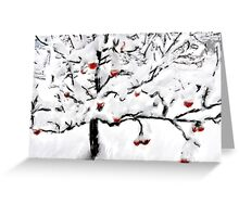 The Orchard in Winter Greeting Card