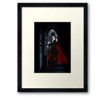 Come Join Me .. whispers the vampyre Framed Print