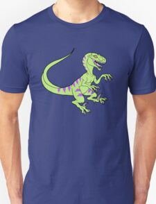 Vintage style neon green velociraptor T-Shirt