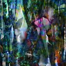 Abstract Unfolding Jewel Toned Patterns by John Fish