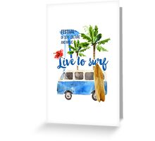 surf placard Greeting Card