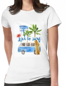 surf placard Womens Fitted T-Shirt