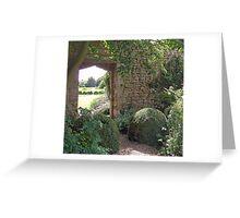Garden view through the arch Greeting Card