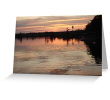 Sunset July 17, 2009 Greeting Card