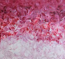 go back to the world - pink abstract by Kimberley Bruce