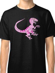 Vintage velociraptor neon pink Classic T-Shirt