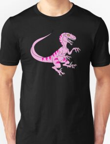 Vintage velociraptor neon pink T-Shirt