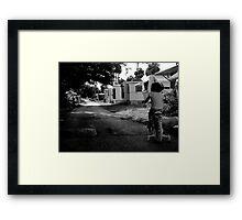 Early Morning ride : Trailer Park America Series  Framed Print