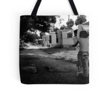 Early Morning ride : Trailer Park America Series  Tote Bag