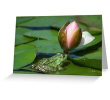 she's my girl, right Lily? Greeting Card