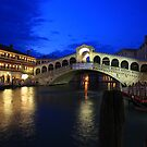Rialto Bridge at Dusk by Christophe Testi