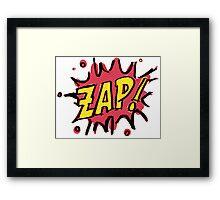 Zap!  Framed Print
