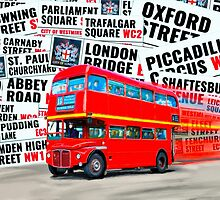 Classic Red London Double decker Routemaster Bus by Mark Tisdale