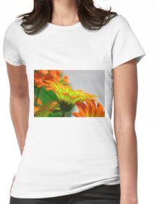 Light Bulb Flower Womens Fitted T-Shirt