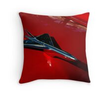 1956 Ford Sunliner Hood Ornament Throw Pillow