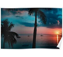 Negril sunset #3 Poster