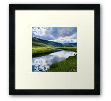 Reflection in Glen Esk Framed Print