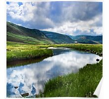 Reflection in Glen Esk Poster