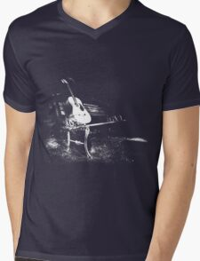 Bench Dark Mens V-Neck T-Shirt