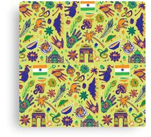 Colourful Pattern Design: India Canvas Print