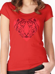 Love Tigers - Protect What You Love Women's Fitted Scoop T-Shirt