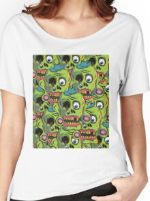 A bunch of Zombie Skulls Women's Relaxed Fit T-Shirt