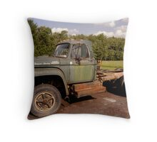 The Green Truck Throw Pillow