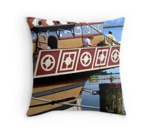 Jamestown Ship, Patterns Throw Pillow