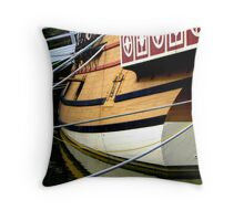 Jamestown Ship, Ropes Throw Pillow