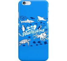 Love Aquariums (blue) iPhone Case/Skin