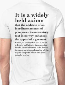 Impenetrable Circumlocution - Black Lettering, Funny T-Shirt