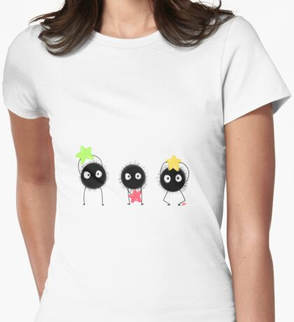 spirited away -- soot sprites and their stars Womens Fitted T-Shirt