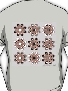 Black, Gray and White Foot Flowers T-Shirt