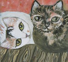 Calico & Tortie by sharonkfolkart