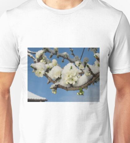 Wild Cherry in Snow Unisex T-Shirt