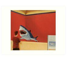 White Shark I (Stand Off) Art Print