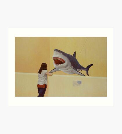 White Shark III (Girl) Art Print