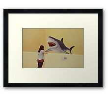 White Shark III (Girl) Framed Print