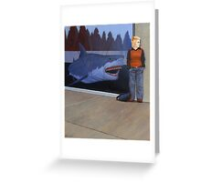 Study for White Shark V (Window) Greeting Card