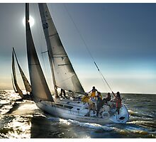SUN POINT SAILING Photographic Print