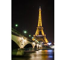 Paris Eiffel Tower Photographic Print