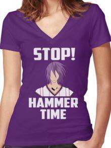 yosen thors hammer time Women's Fitted V-Neck T-Shirt