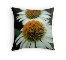 White Coneflowers Throw Pillow