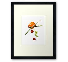 Veggie Toss Framed Print